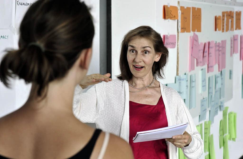 Klangrede: Dorothea Gädeke beim Sprachcoaching Foto: Thomas Kunz